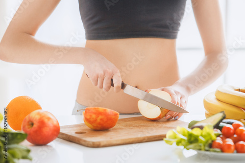 e676701196 Young woman weight loss perfect body shape - Buy this stock photo ...