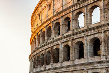 Fototapeta Rzym Colosseum at sunrise in Rome, Italy