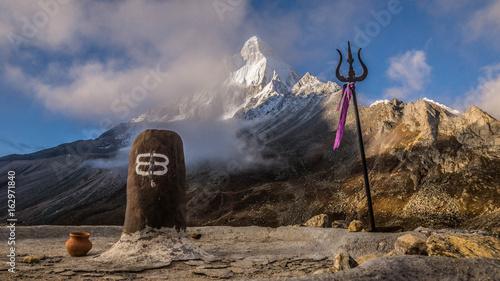 Obraz na plátně Mt Shivling Himalayas