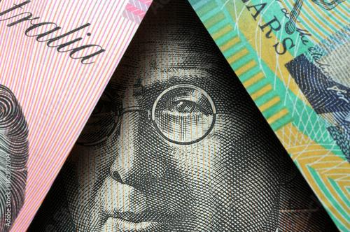 Foto op Canvas Australië Australian dollar Австралийский доллар Dollaro australiano Australia 澳大利亚元 Currency オーストラリア・ドル Avustralya doları money Dollarydoos John Flynn
