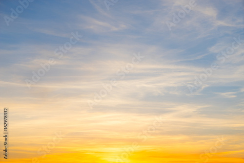 plakat Sunset sky background