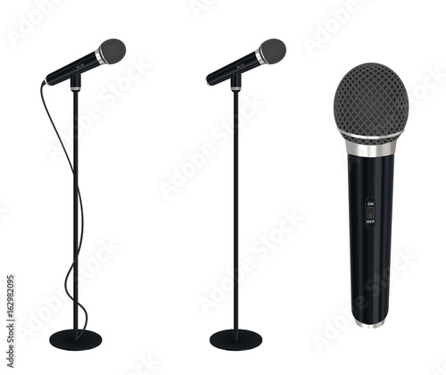 Obraz na plátně microphone with stand vector on white background