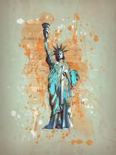 Liberty, New York, Manhatten -...
