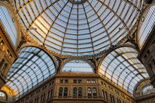 Glass Roof And Arching Dome Of Galleria Umberto I - Naples, Campania, Italy