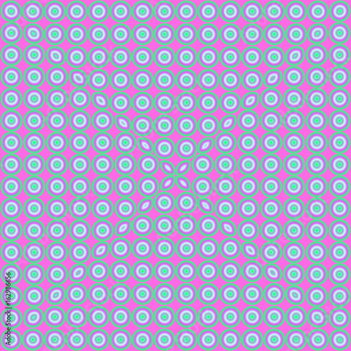 Spoed Foto op Canvas Psychedelic Bright, psychodelic seamless pattern. Mosaic decorative design template. Geometric abstract background.