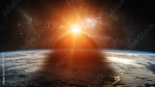 eclipse-of-the-sun-on-the-planet-earth-3d-rendering-elements-of-this-image-furnished-by-nasa