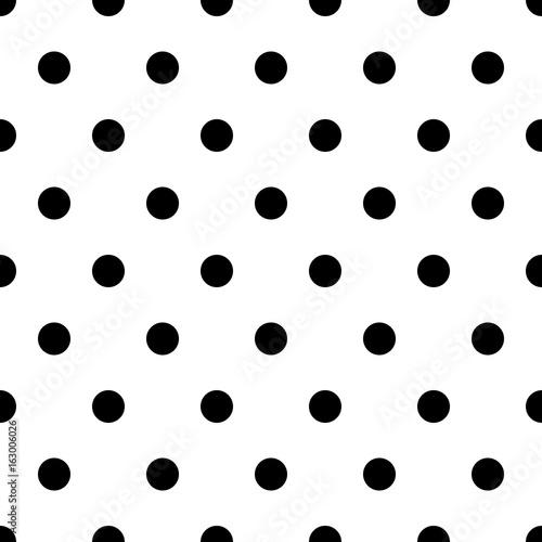 retro pattern with black polka dots on white background retro