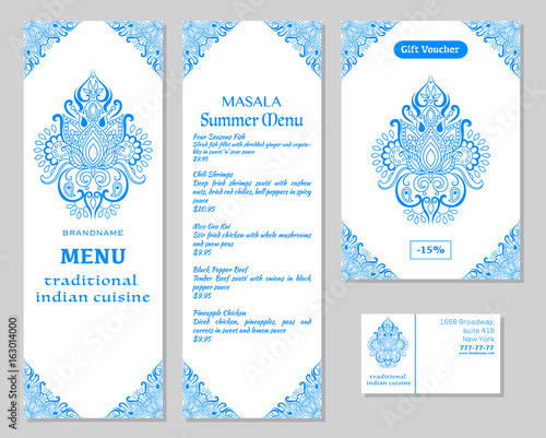 Indian food restaurant menu template food flyer business card restaurant menu template food flyer business card vector cheaphphosting Choice Image