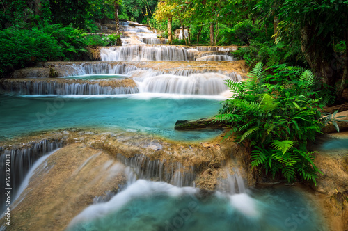 Foto op Canvas Watervallen Mae Kae Waterfall