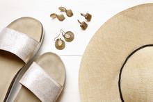 Golden Earrings, Straw Hat, Sl...