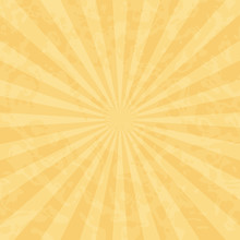 Ochre Vintage Background With Rays