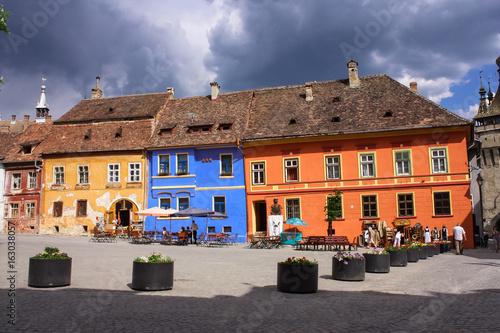 Fotografie, Obraz  Sighisoara central square