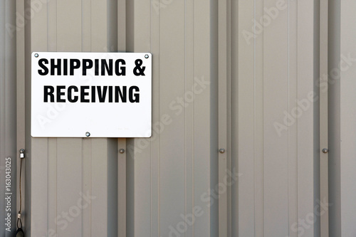 Fotografie, Obraz  Shipping and Receiving Signage