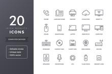 Computer Electronics Line Icons