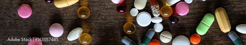Fotografia  Long background of  medications