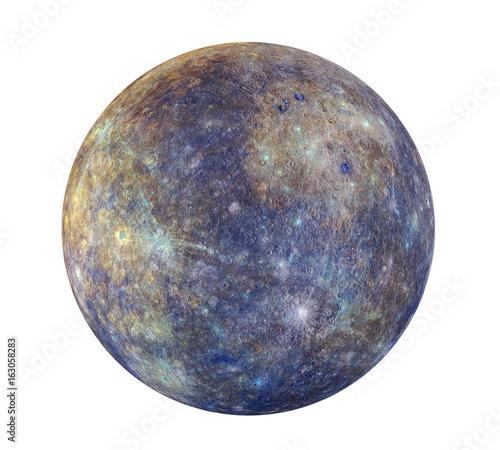 Fotografie, Obraz  Planet Mercury Isolated