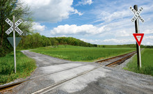Country Railroad Crossing:  A ...