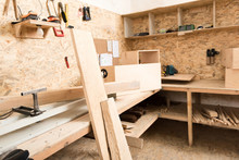 Woodworking Area With Professi...