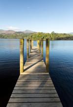 Pier On Derwent Water In Lake ...