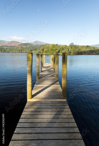 Photo  Pier on Derwent Water in Lake District
