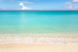canvas print picture - Calm tropical beach with turquoise water