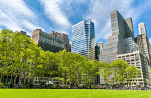 Buildings At Bryant Park In New York City