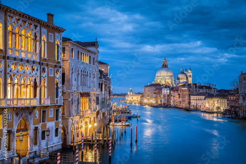 Poster Venise Canal Grande in mystic twilight, Venice, Italy