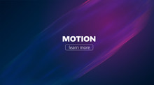 Motion Lines Background. Minimal Wave Flow Backdrop. Impulse Glitch