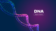 Abstract Vector DNA Structure....