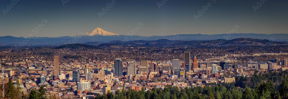 Fototapety, obrazy: Portland Downtown Cityscape