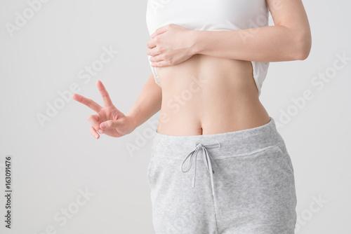 Kobieta, kawałek sukcesu w diecie Obraz na płótnie