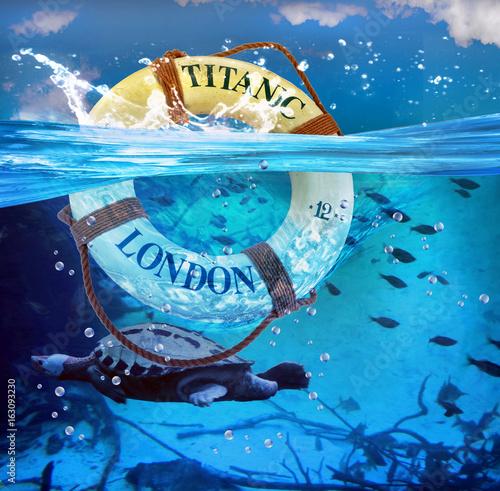 Titanic Lifesaver. Canvas Print