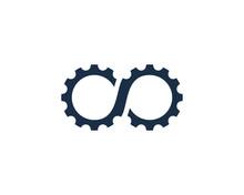 Infinity Gear Icon Logo Design...