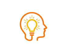 Brain Idea Icon Logo Design El...