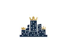 King Town Icon Logo Design Element