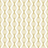 Bezszwowe wektor wzór geometryczny z liniowych złotych rombów - 163112268