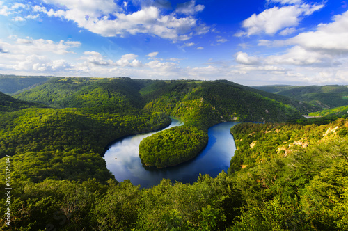 Fotografie, Obraz  Meander of Queuille in Auvergne land