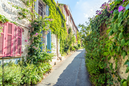 street view in Antibes old town, France Canvas Print