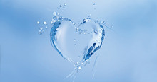 A Heart Made Of Water Floating...