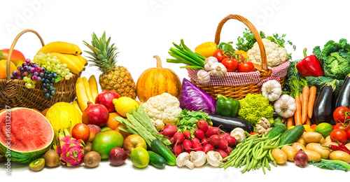 Poster Légumes frais Vegetables and fruits background