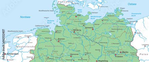 Norddeutschland Nord Und Ostsee Landkarte Buy This Stock