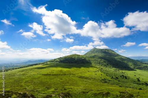 Photo Puy de Dome mountain and Auvergne landscape
