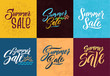 Summer sale. Hand writing words. Vector letters