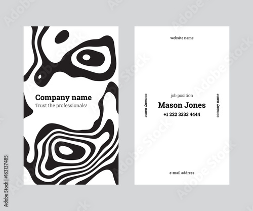 White and black double sided business card template us standard white and black double sided business card template us standard size 2x35 colourmoves