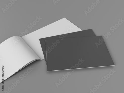 Fotobehang Grijs horizontal brochure book magazine template