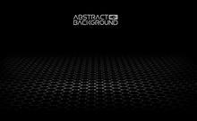 Black Hexagonal Background. Vector Illustration. Dark Background Vector. Honeycomb, Hexagon, Black Color.