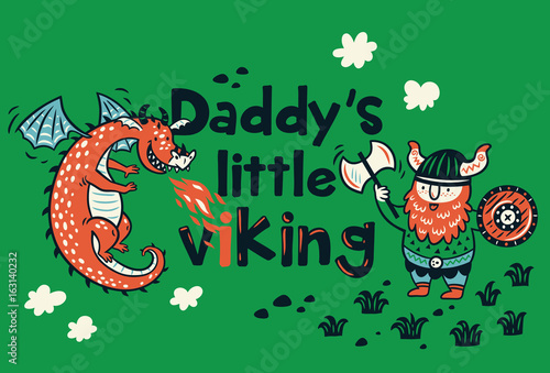 db6711da Daddys little viking print for childrens clothing - Buy this stock ...