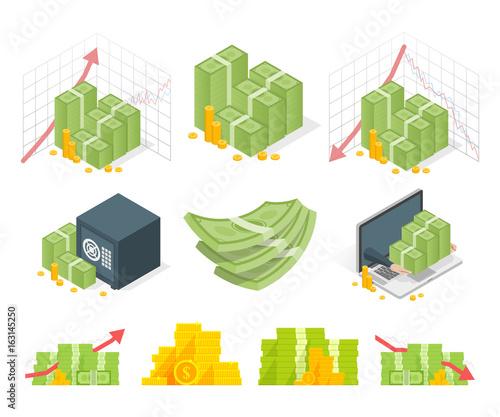 Fotografía  Big set of money icons