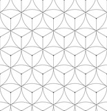 Abstract geometric seamless pattern vector hexagonal triangular background grid texture - 163145473