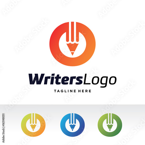 O Letter Writers Logo Template Design Vector Emblem Design